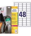 Ultra odolné etikety, 45,7 x 21,2 mm, 480 ks