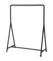 Šatní stojan na oblečení pro vnitřní a venkovní použití, černá, 148 x 117 x 59 cm